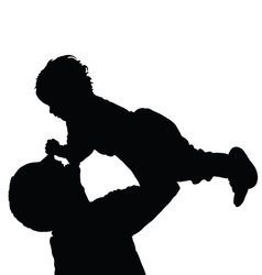 father with daughter happy black vector image