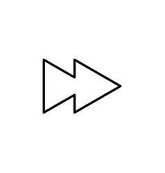 Forward icon vector