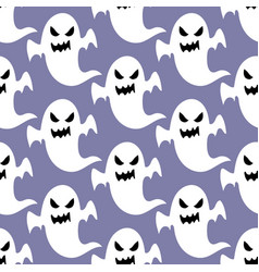 ghost halloween pattern vector image