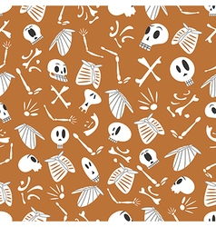 Halloween skeletons pattern 03 vector image