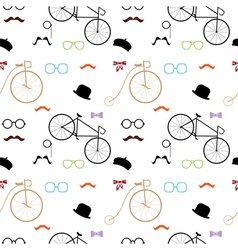 Hipster accessories colorful pattern vector