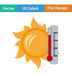 Icon of sun and thermometer vector image