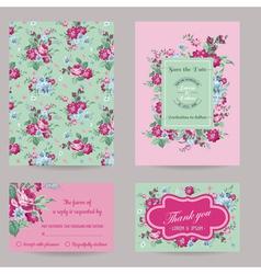 Invitation Congratulation Card Set vector image vector image