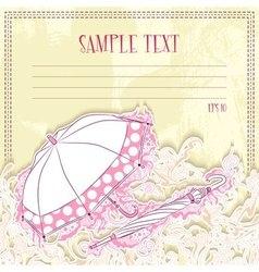 Message card with umbrellas vector