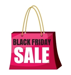 Package black friday sale icon cartoon style vector