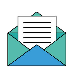 Paper envelopes opened with sheet vector