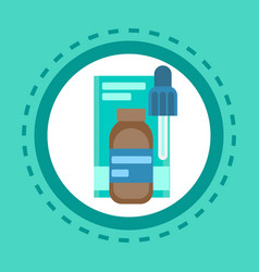 pharmacy icon pills medical health care clinics vector image vector image