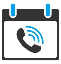 Phone call calendar day toolbar icon vector