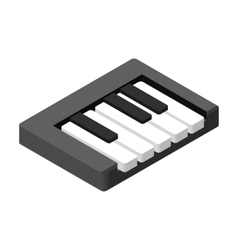 Piano keys isometric 3d icon vector