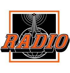 Radio broadcast logo vector image vector image