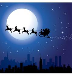 Santa background vector image