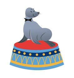 sealion cartoon animal icon vector image