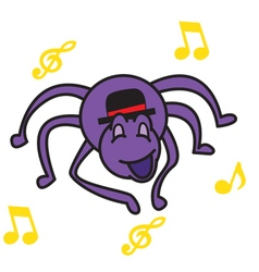 Spider and music vector