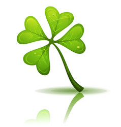 St patricks holidays four leaf clover vector