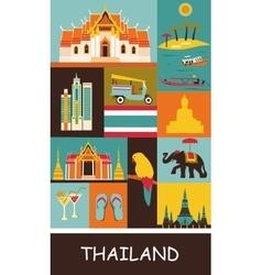 Symbols of Thailand vector image vector image