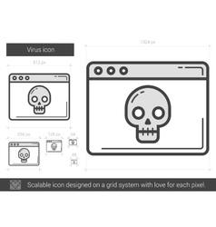Virus line icon vector