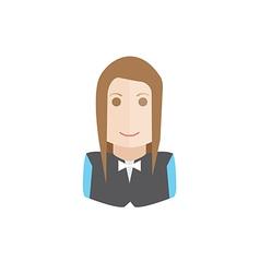 waiter avatar vector image vector image