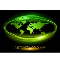 world abstract circle on black green vector image vector image