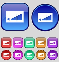Volume adjustment icon sign a set of twelve vector