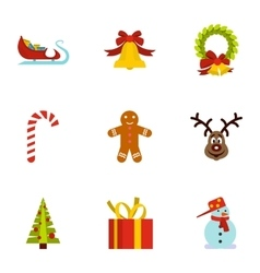 Holiday icons set flat style vector