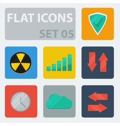 Flat icons set 05 vector