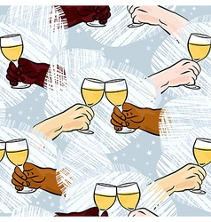 Wine toast background vector