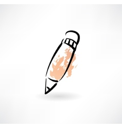 pencil grunge icon vector image