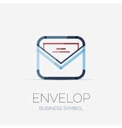 Open envelop company logo business concept vector image