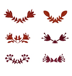 Watercolor laurels set vector