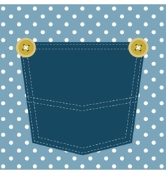 Blue pocket vector