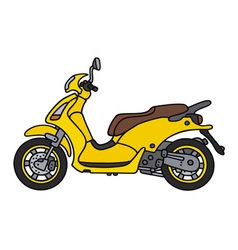 Yellow scooter vector