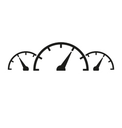 The tachometer speedometer and indicator icon vector