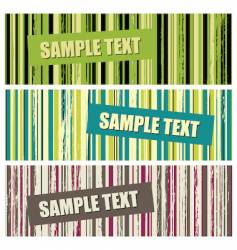 Grunge stripes banners vector