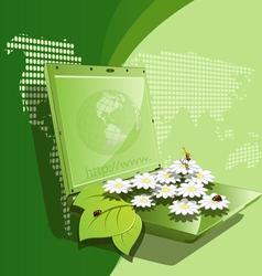 daisywheel notebook vector image