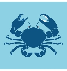 Crab silhouette sign symbol vector
