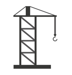 Crane tower isolated icon design vector
