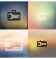 wrench icon on blurred background vector image