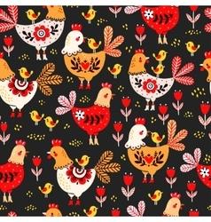 Animal pattern domestic bird vector