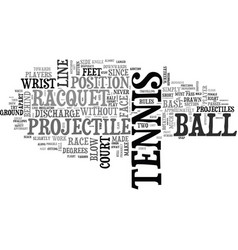 Are you a tennis player text word cloud concept vector