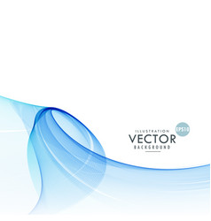 Awesome abstract blue wave background vector