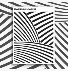 black and white interior poster vector image vector image