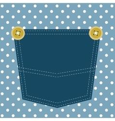 Blue pocket vector