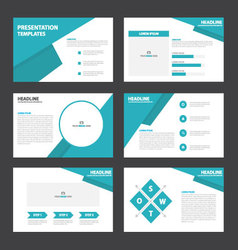 Blue theme presentation templates infographic vector