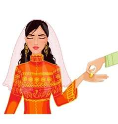 Ceremony at henna night kina gecesi vector image vector image
