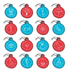 circle tags vector image