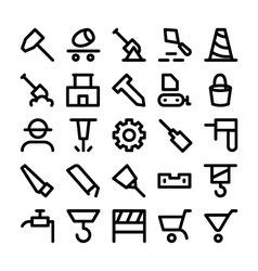 Construction icons 3 vector