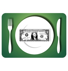 Eating savings vector image