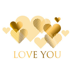 For holiday design many gold and black hearts on vector