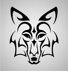 Fox head tattoo vector