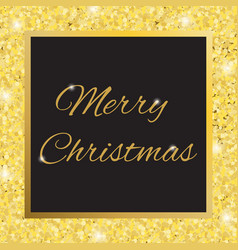 glamorous gold frame with glitter vector image vector image